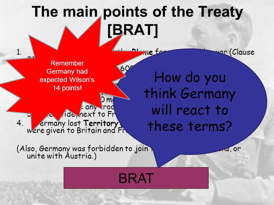 The main points of the Treaty [BRAT]